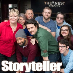 Storyteller at The Nest Theatre. Improv fueled by Truth.